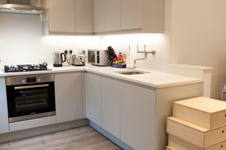Fully equipped kitchen at Rathbone Place