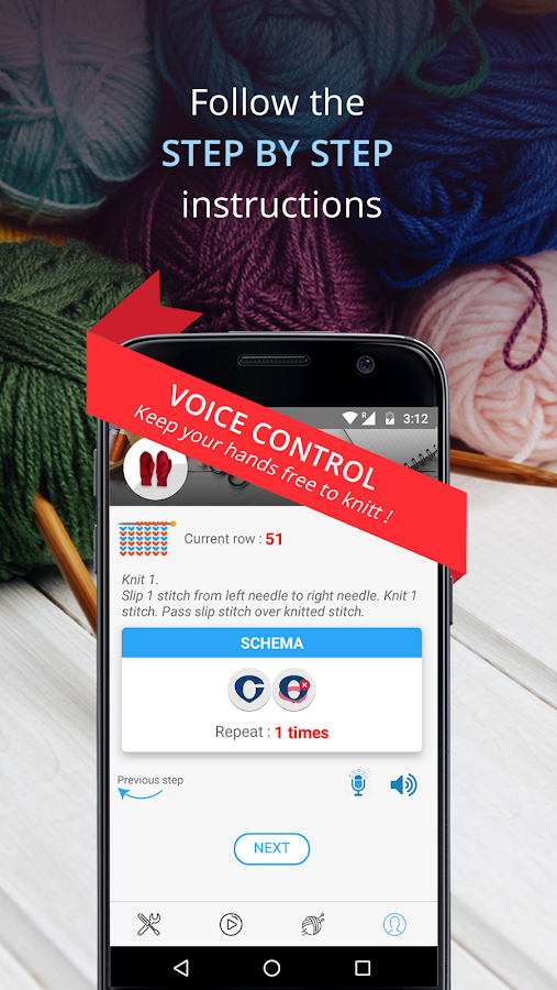 Knitting Genius - Free Patterns & Row Counter- screenshot