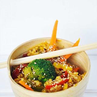 Macrobiotic Stir Fry with Veggies and Brown Rice Recipe