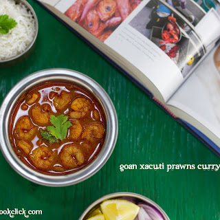 Goan Xacuti Prawns Curry.