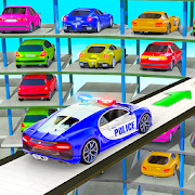 Police Multi Level Car Parking Games: Cop Car Game