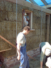 Photo: window frame going in