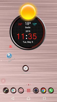 TSF Shell Theme Red Circle - screenshot