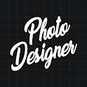 Photo Designer - Text On Photo | Collage & Blender icon