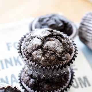 Dark Chocolate Banana Muffins.