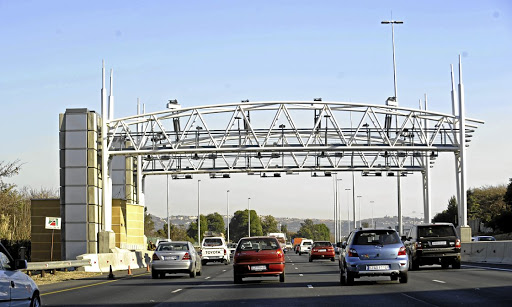 No way: A gantry at an e-toll station in Gauteng. Sanral is owed billions in unpaid toll fees.  Picture: FINANCIAL MAIL