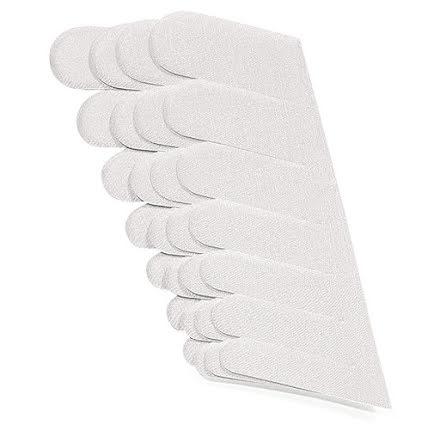 70 vita silkesremsor för naglar