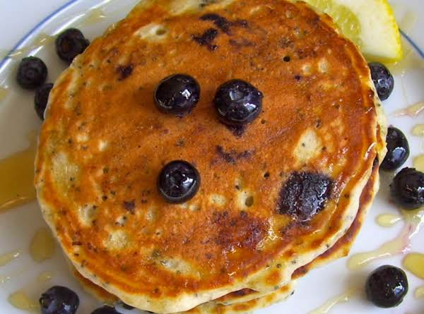 Blueberry Lemon Poppy Seed Pancakes
