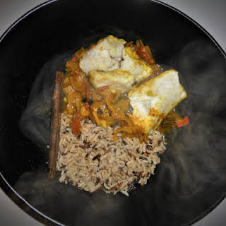 Lightly Spiced Healthy Hake Curry.