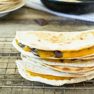 Pumpkin Chocolate Quesadilla