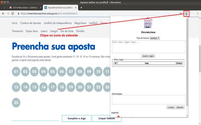 ChromeLoteca - Loterias Caixa