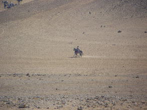 Photo: Riding through the desert on a nameless horse.