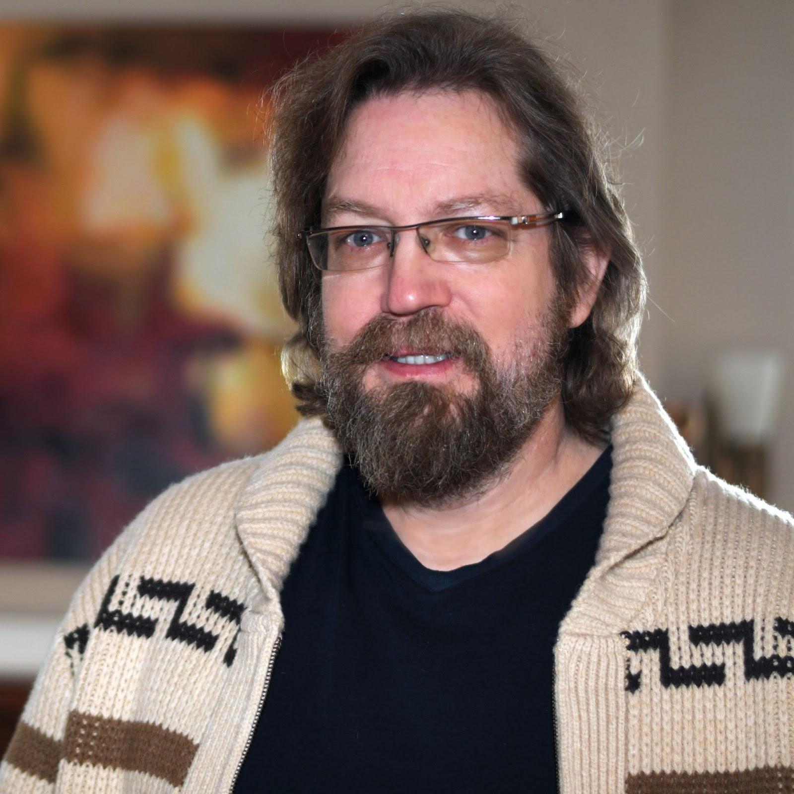 Portrait of bearded white man
