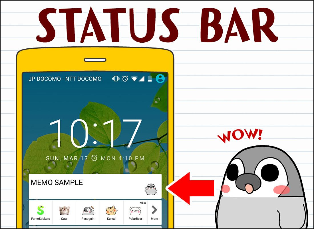Pesoguin Memo Pad Penguin note- screenshot