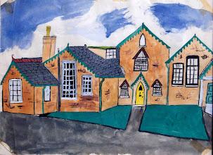 Photo: Wateringbury C of E School 1964 painted by John Gilham