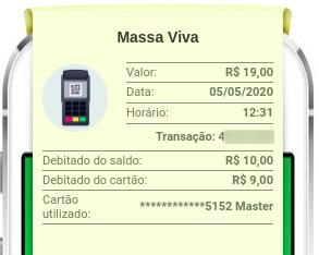 Exemplo de utilização de cashback