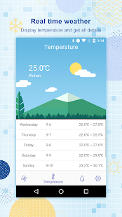 Weather Forecast-temperature&humidity&wind force - náhled