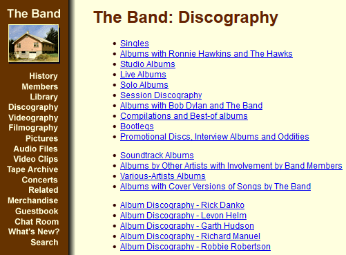 The Band Discography