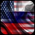 Usa Russia Russian English icon