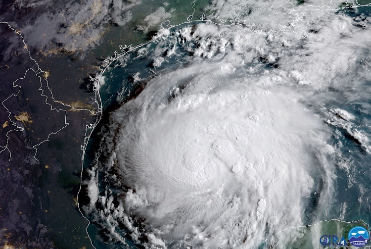 Hurricane Harvey is seen in the Texas Gulf Coast, US, in this NOAA GOES satellite image on August 24, 2017.    Picture: REUTERS