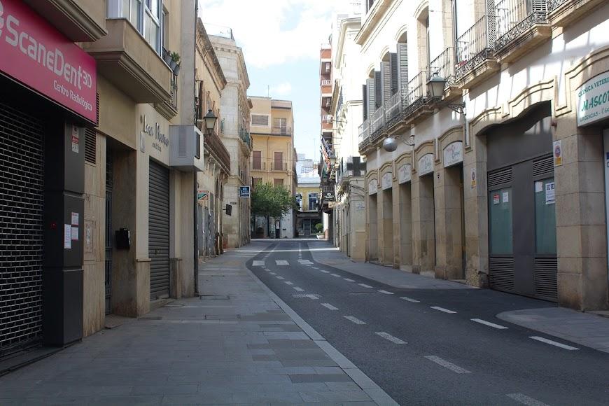 Aspecto de la zona alta de la calle Real.