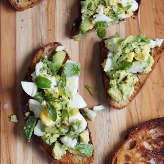 Egg and Avocado Salad on Toast.