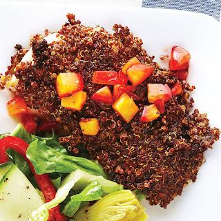 Quinoa-Crusted Fish with Plum Chutney