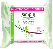 Simple Kind to Skin Cleansing Facial Wipes Pack - 2pk, 25pcs