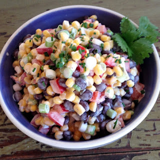 Black Bean Corn Salad with Jalapeno Lime Dressing