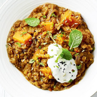 Red Lentil Dhal With Sweet Potato.
