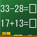 Mental arithmetic calculation game icon