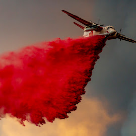 Holy Fire Drop by Mark Ritter - Transportation Airplanes
