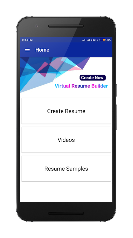 visual resume builder pro in 10 min free templates android apps - Resume Builder Pro
