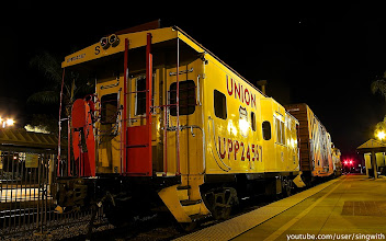 Photo: Union Pacific 3105 SD40-2 at Covina Station