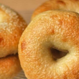 Homemade Plain or Sesame Bagels.