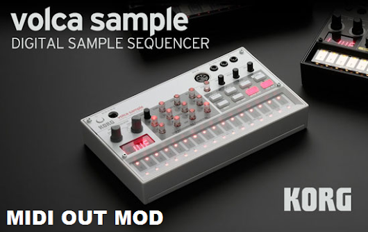 Volca Sample MIDI OUT mod - Step by step.