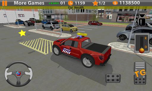 先生停車場。消防車汽車