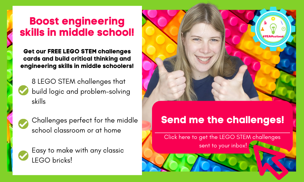 middle school lego challenge cards