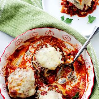 Roasted Eggplant and Tomato Sauce Stacks