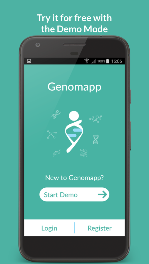 Genomapp. Squeeze your DNA- screenshot