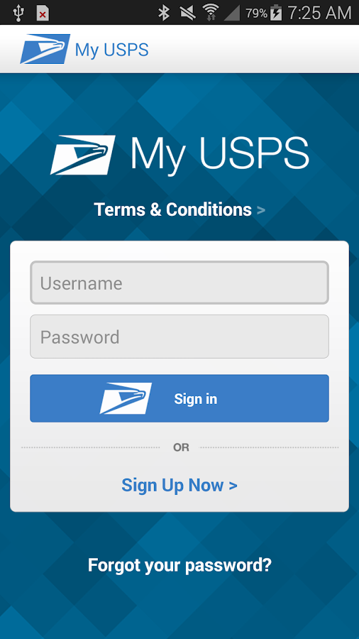 My USPS- screenshot