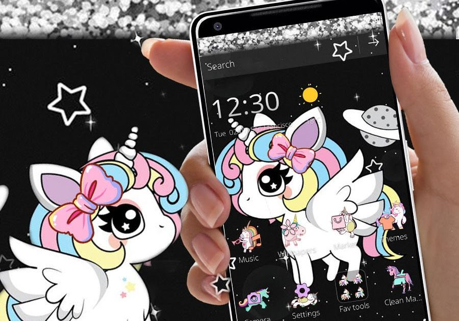 Cute Glitter Galaxy Unicorn Wallpaper Hd Wallpaper