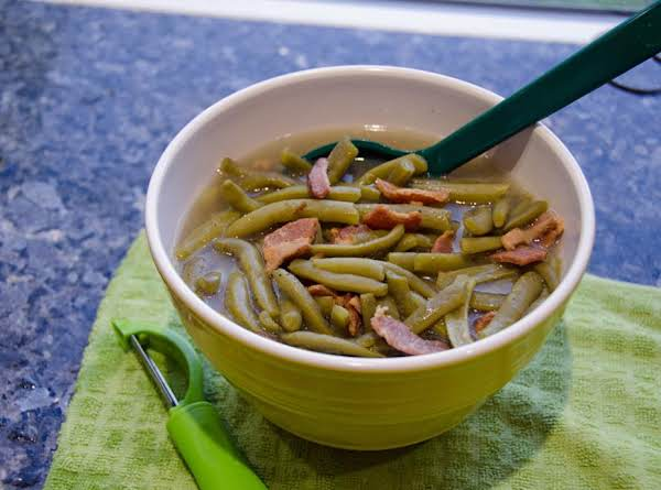 Green Beans And Bacon In The Pressure Cooker