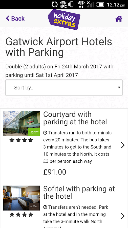Airport Hotels and Parking- screenshot