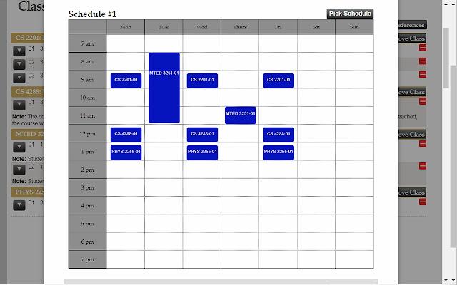 Vandy Scheduler