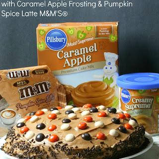 Caramel Apple Cake with Caramel Apple Frosting & Pumpkin Spice Latte M&M'S®