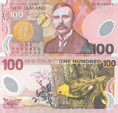 Photo: Lord Ernest Rutherford, 100 New Zealand Dollars. This note is still legal currency and is still in print.