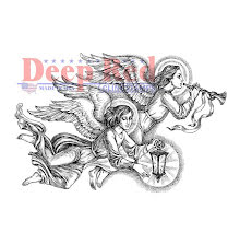 Deep Red Cling Stamp 3X2 - Divine Angels UTGÅENDE
