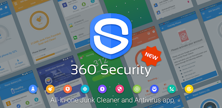 دانلود 360 Security - Free Antivirus, Booster, Cleaner