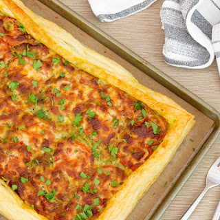 Easy Cheesy Tomato Tart